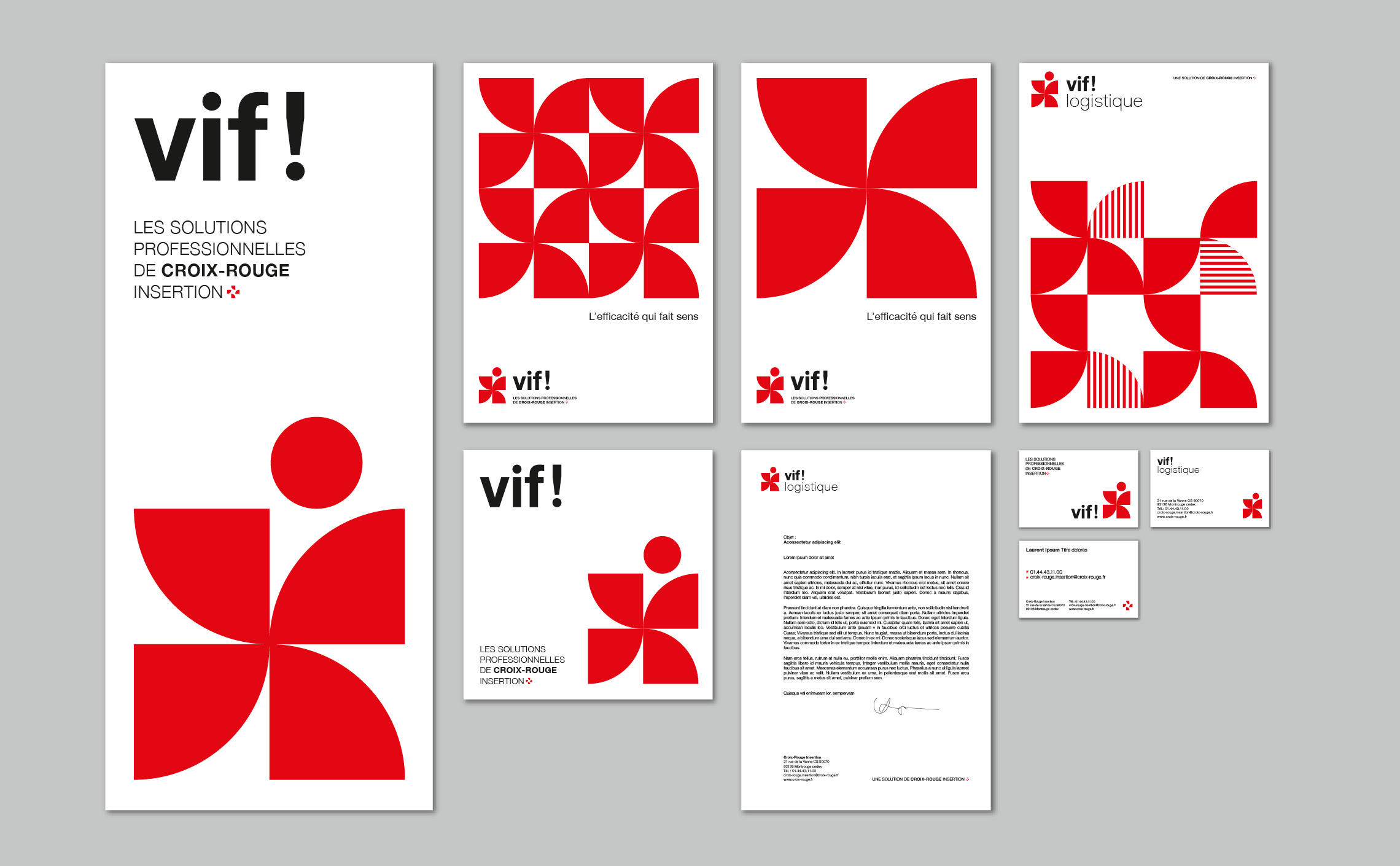 branding design red rouge minimaliste moderniste