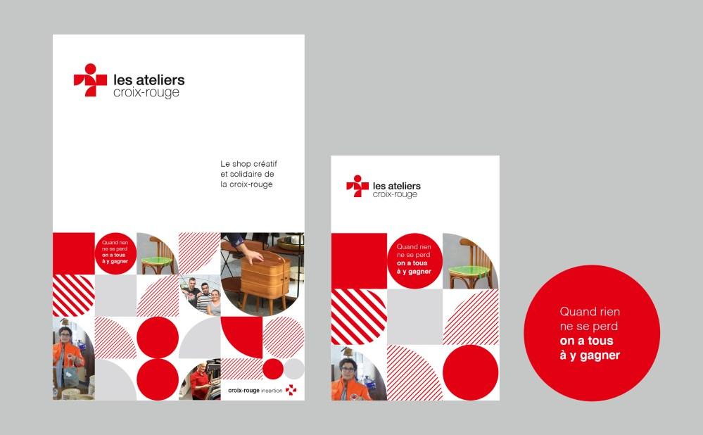 mise en page design brochure croix-rouge