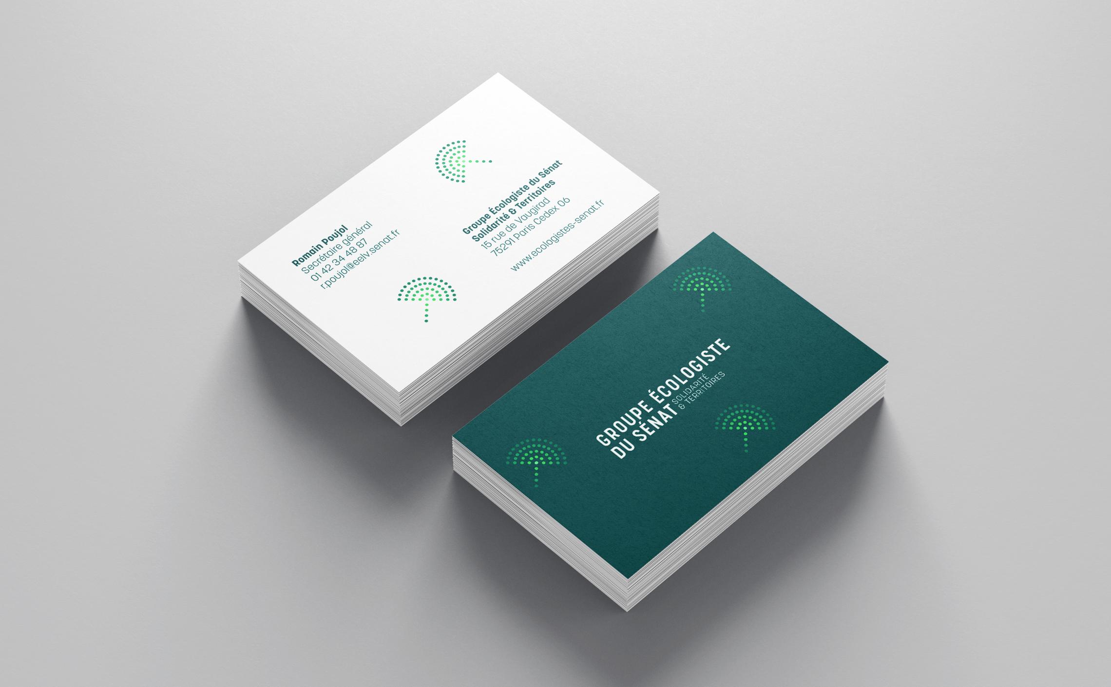 cartes de visites sénat écologie