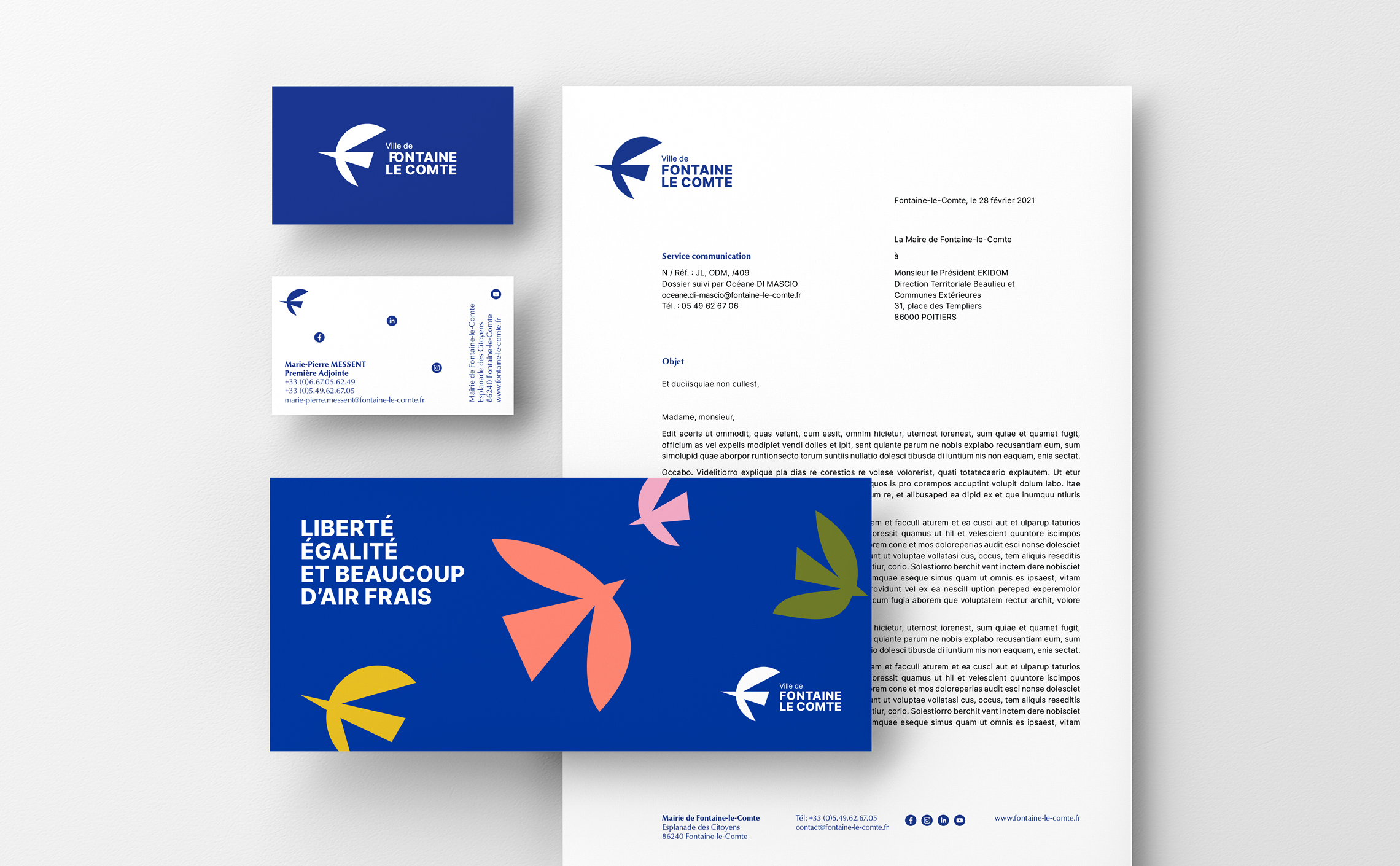 stationnary layout design branding