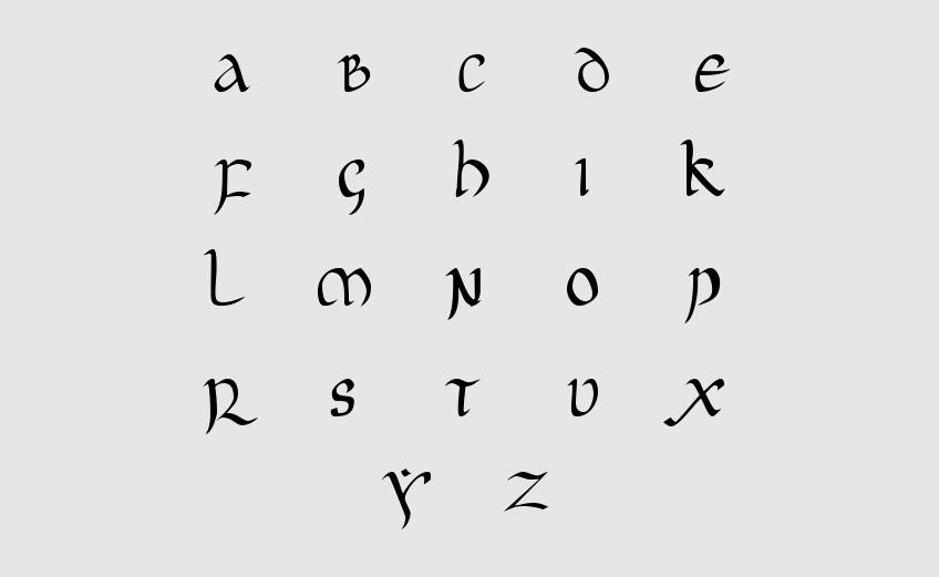 typographie-manuscrite-Onciale_latine