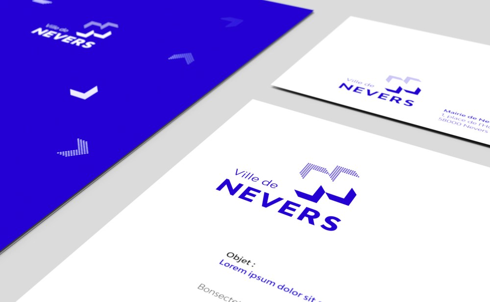 détail identité visuelle branding ville de Nevers