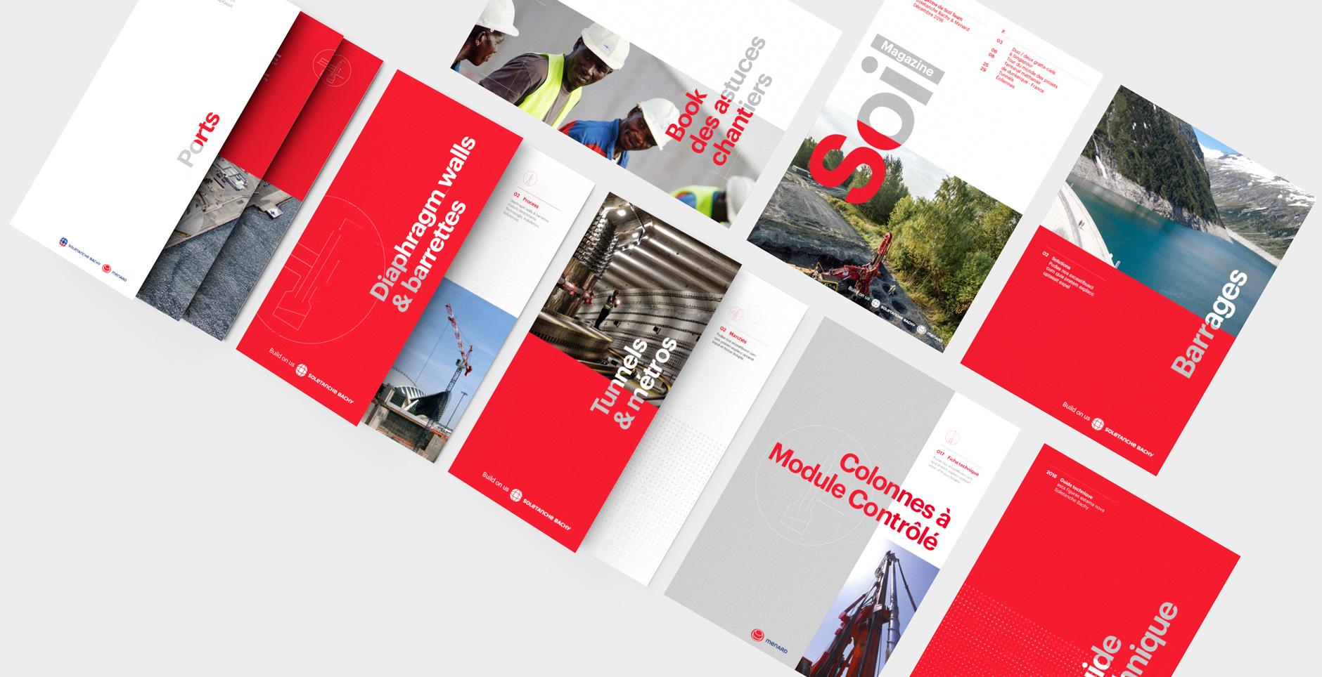 Charte graphique Soletanche Bachy Bâtiment travaux publics btp