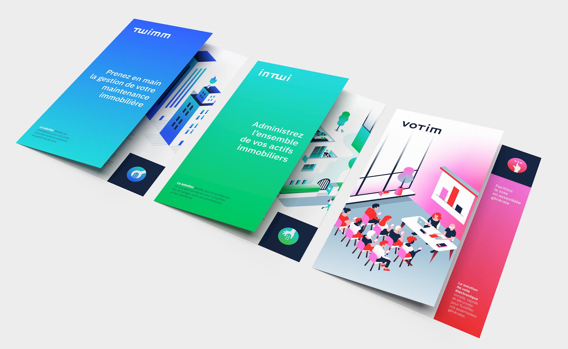 Plaquettes brochures