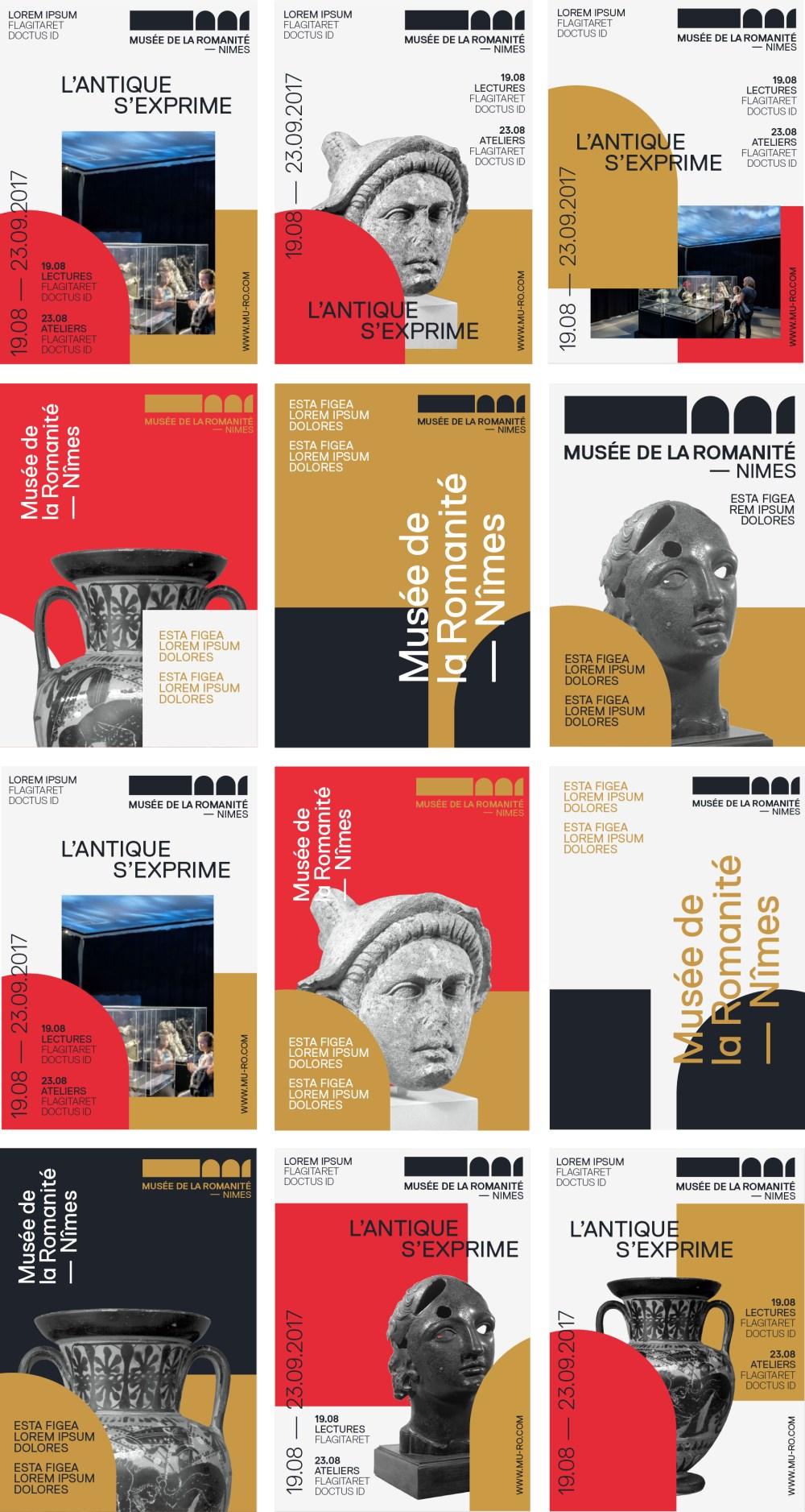 Affiches musée de la romanité design poster