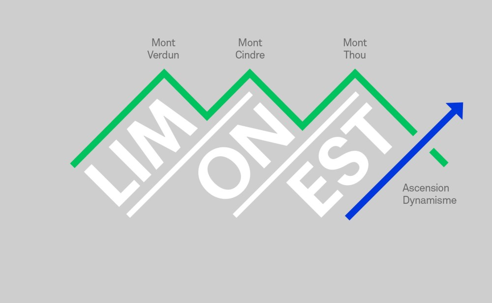 Principe du logo municipalité de Limonest métropole de Lyon