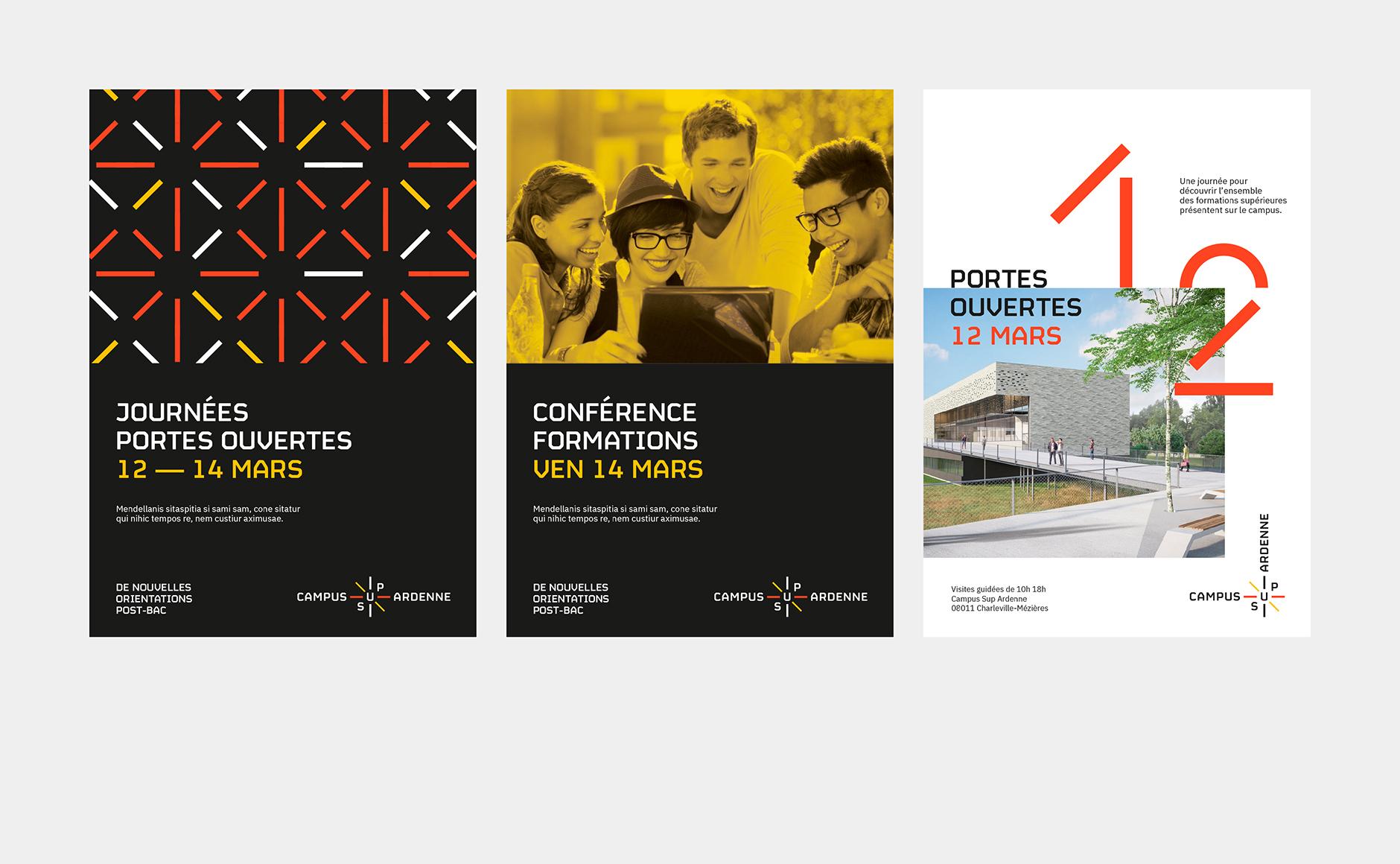 affiche charte graphique campus universitaire