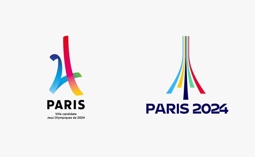 avant après logo JO paris 2024