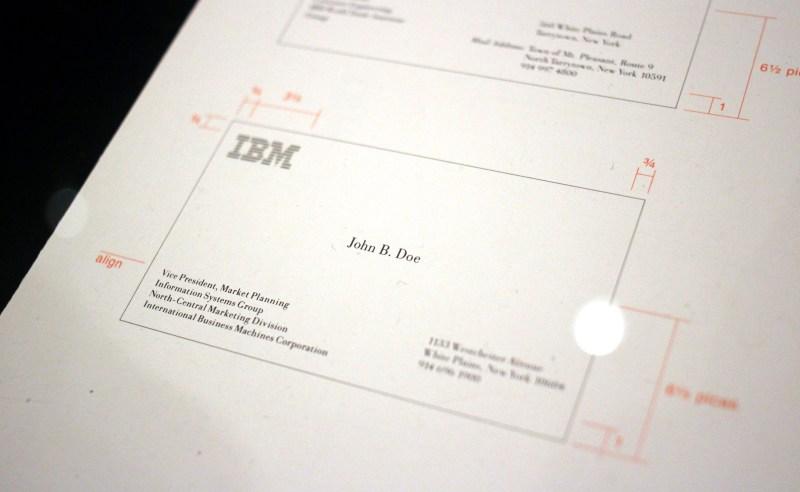 carte de visite IBM