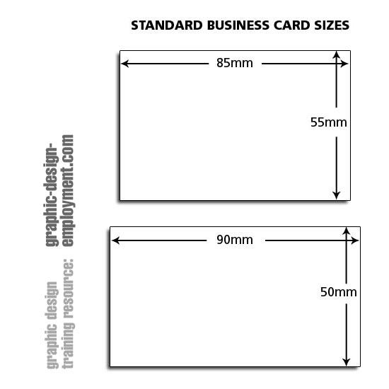 standard business card sizes | Infocard.co