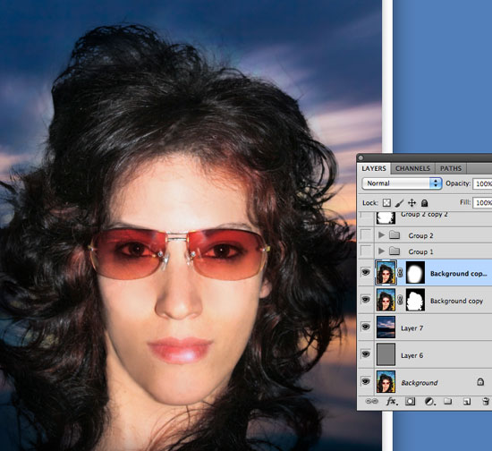 Cutting Out Hair In Photoshop By Merging And Manipulating