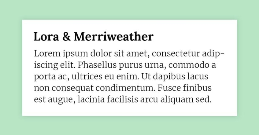 Fonts Combination: Lora and Merriweather