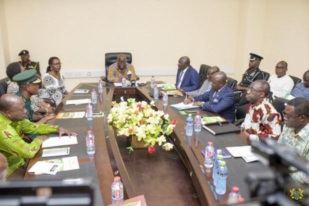 President Akufo-Addo with the Board of the National Identification Authority
