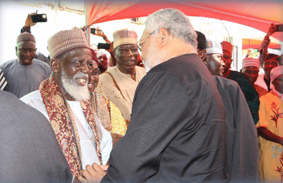 Image result for the national chief imam with rawlings