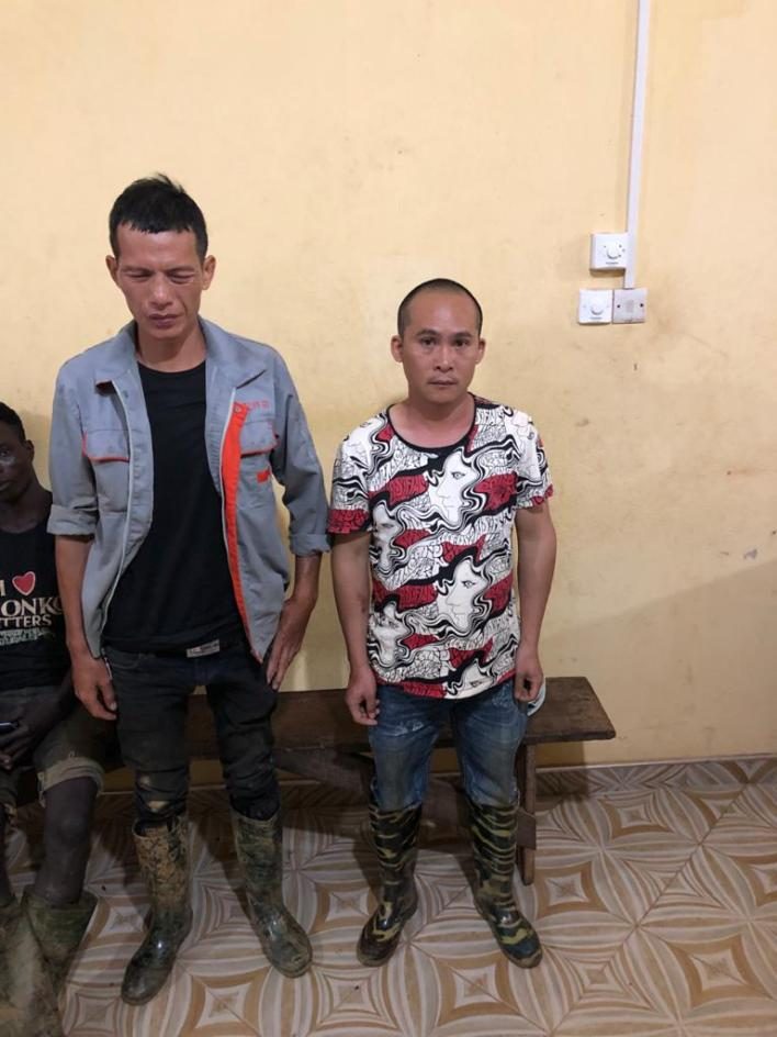 2 Chinese nationals arrested for illegal mining in forest 6