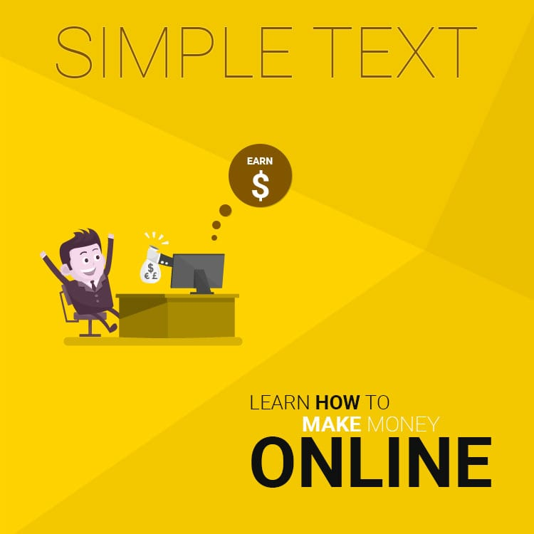 PSD template for online money making