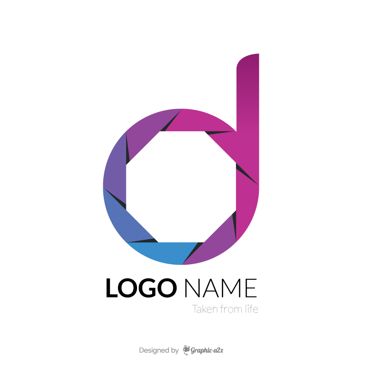 Creative vector letter d logo design elements