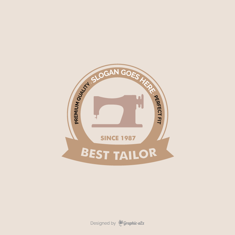 Sewing machine tailor studio logo template