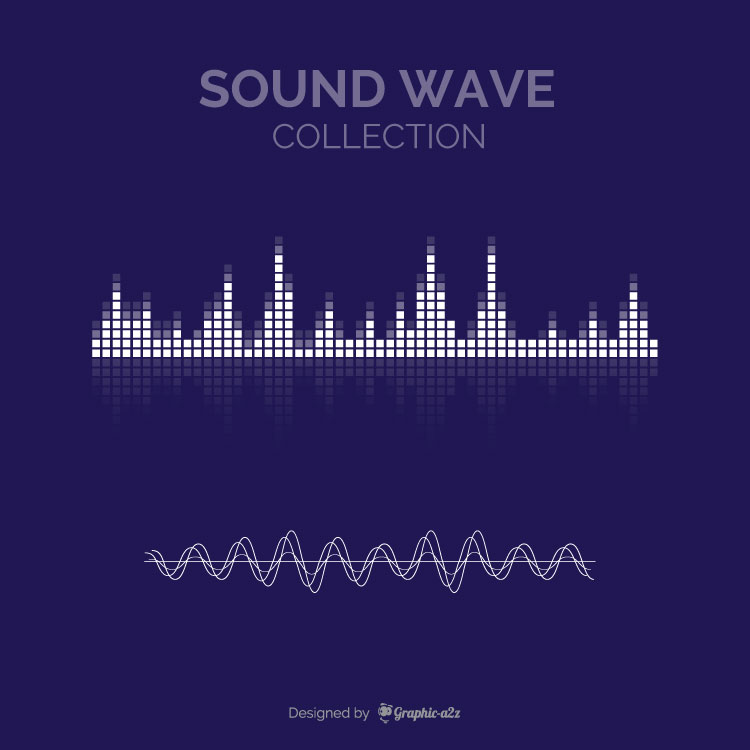 Several sound waves vector design