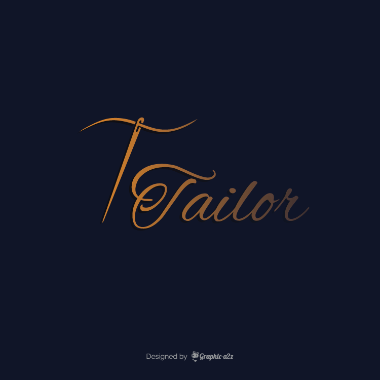 Creative vector letter t logo for tailoring