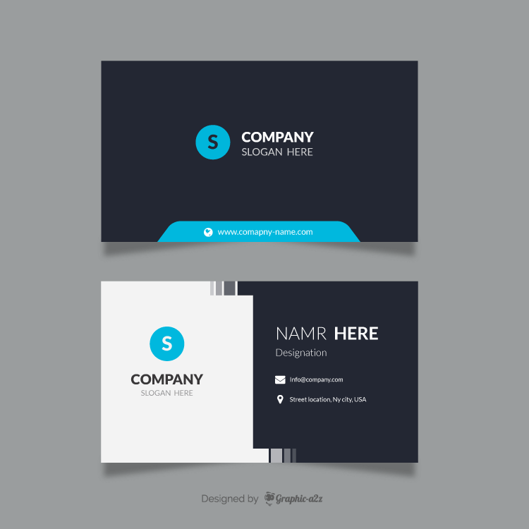 Corporate business card vector design on Graphica2z