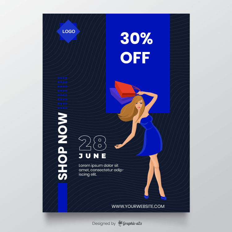 Flyer design for sale offer free vector