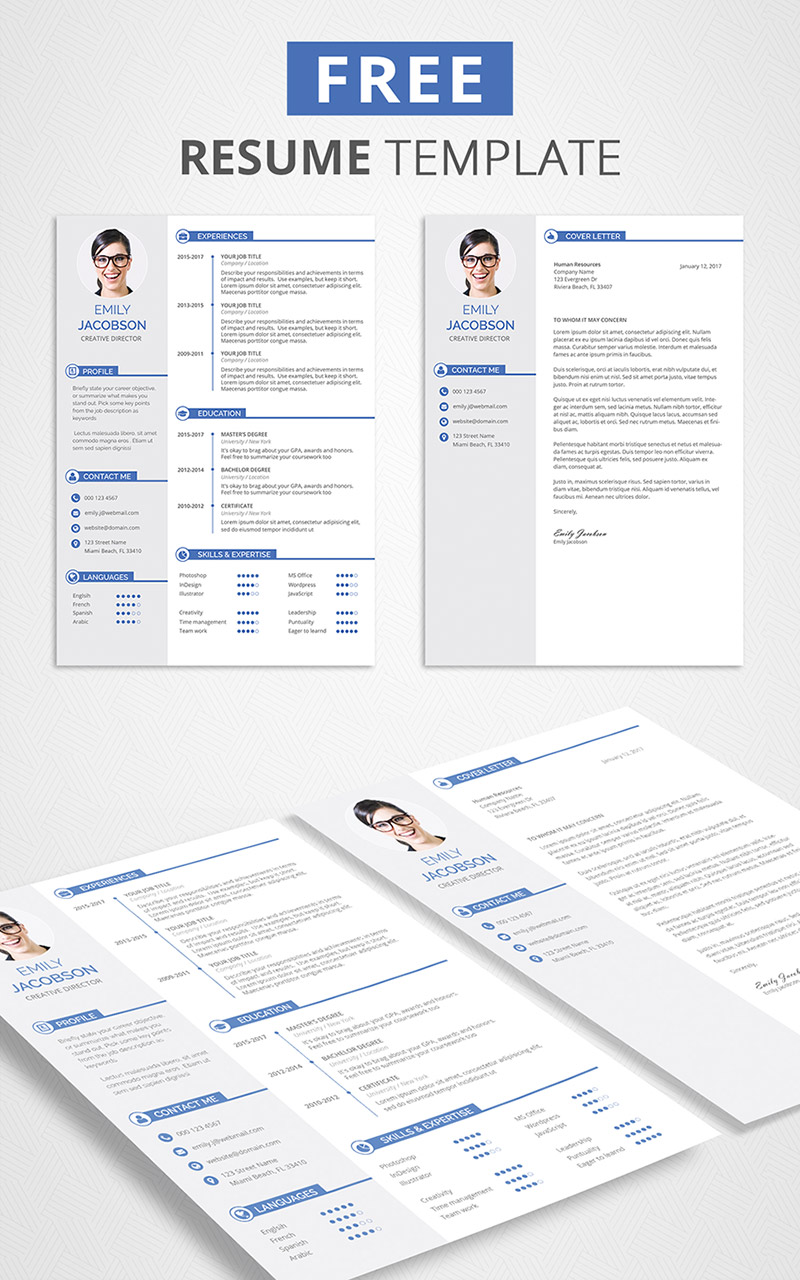 Free CV Template and Cover Letter  Graphicadi