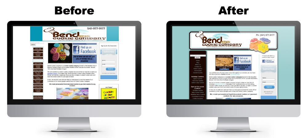 Bend Cookie Website Redesign