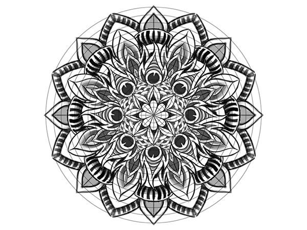 Pale - Horse - Illustrate a Custom Mandala-2