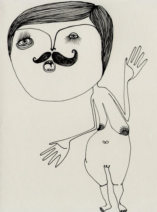 dibujo-chulo-pnitas-paper-sketch-BIGOTE