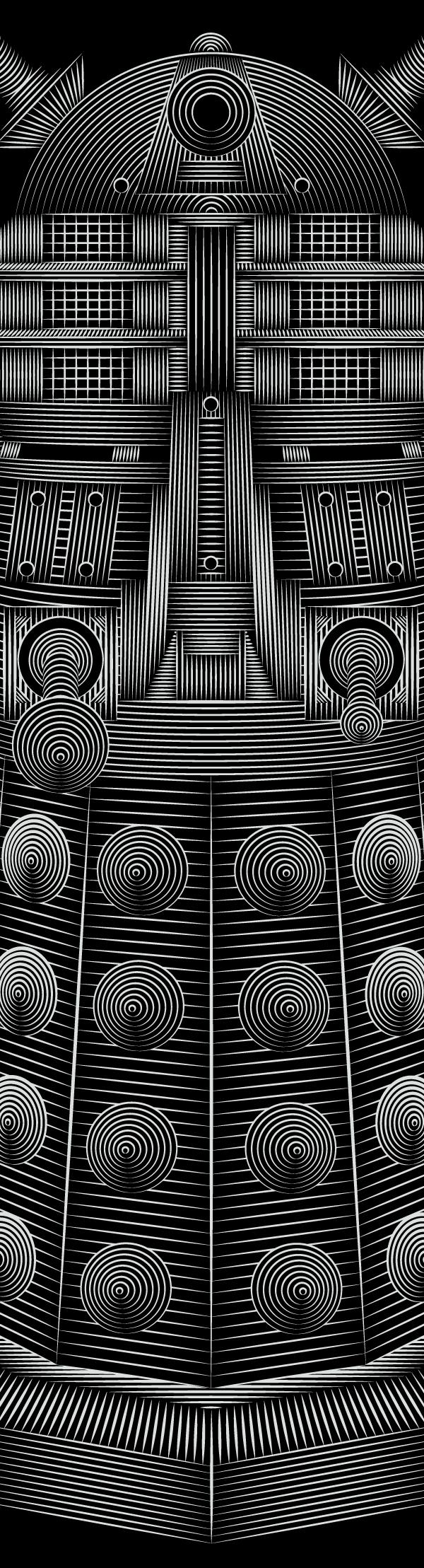 Doctor Who - Dalek (detail) by Patrick Seymour