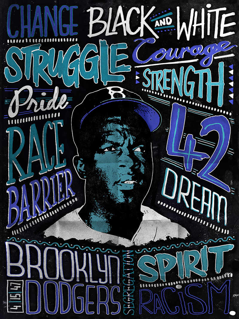 Jackie-Robinson,-Brooklyn,-April-15,-1947-by-Rory-Martin