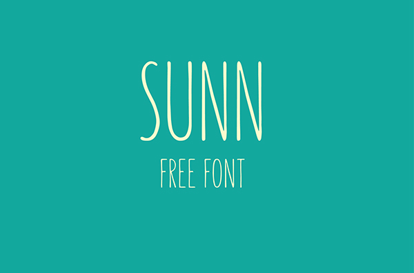 SUNN - Free Handwriting Font-1