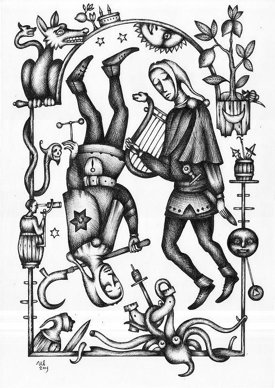 eugene-Ivanov_Ink-drawings-03.00_Gemini_Lot-2272.00