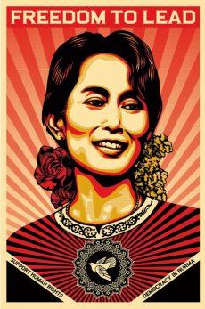 Shepard Fairey: Freedom to Lead - Aung San Suu Kyi