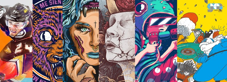 Bold, colourful and dynamic illustrations from around the world