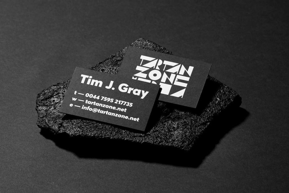 Tartan Zone Media business card