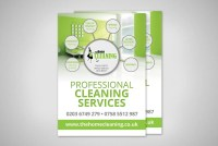 Cleaning company flyer design Design