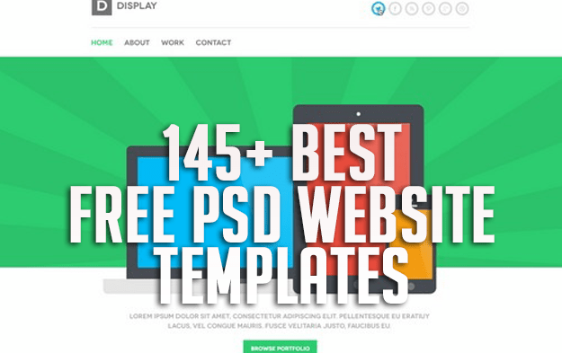 145+ Best Free PSD Website Templates