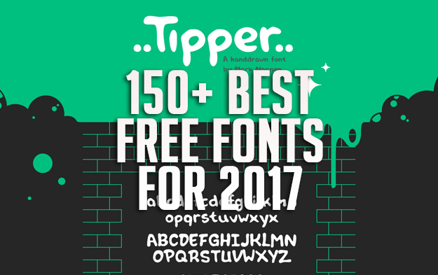 150+ Best Free Fonts for 2017