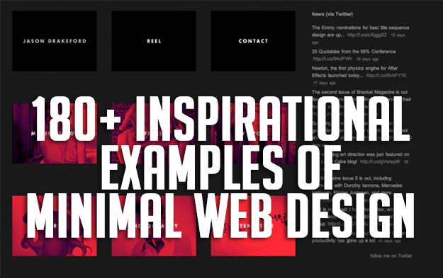 180+ Inspirational Examples of Minimal Web Design