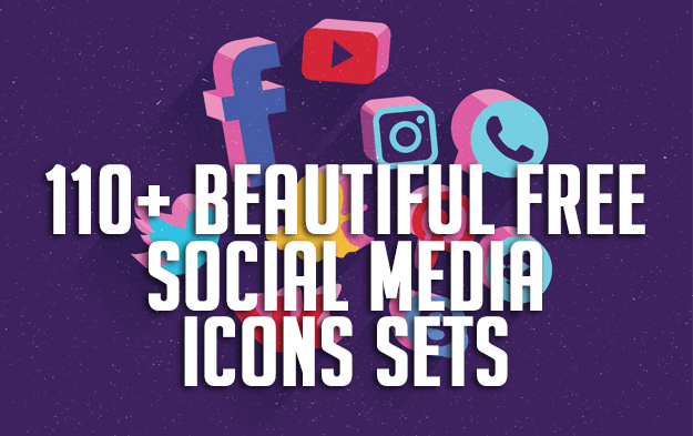 110+ Beautiful Free Social Media Icons Sets