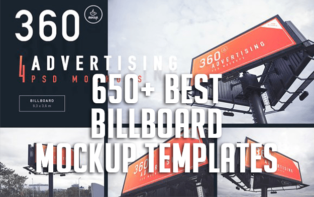 650+ Best Billboard Mockup Templates