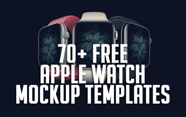 70+ Free Apple Watch Mockup Templates