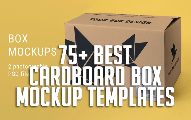 75+ Best Cardboard Box Mockup Templates