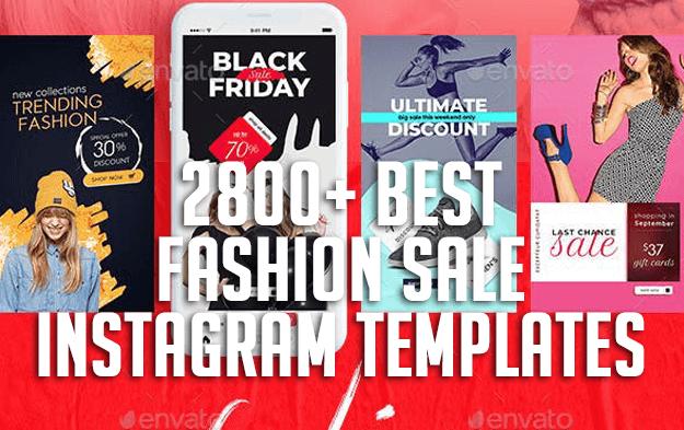 2800+ Best Fashion Sale Instagram Templates