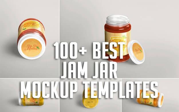 100+ Best Jam Jar Mockup Templates