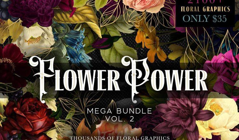 2100+ Flower Power Mega Bundle 83% Off