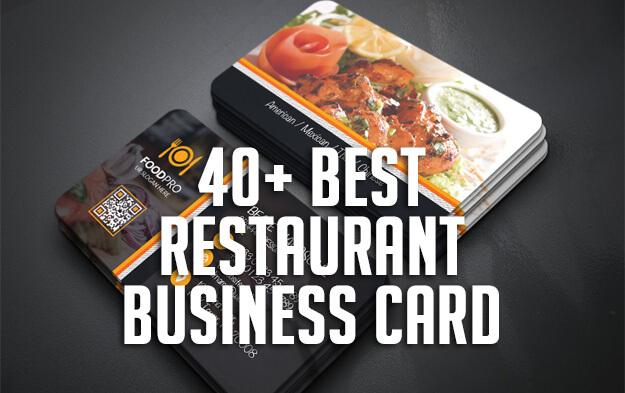 40+ Best Restaurant Business Card Templates