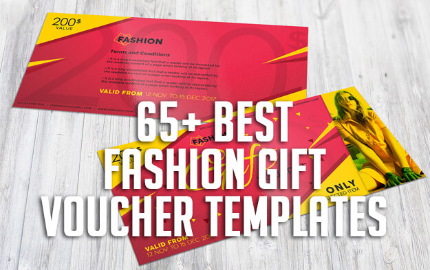 65+ Best Fashion Gift Voucher Templates